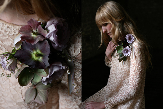 Amy Merrick's floral design and styling, moody plums and violets.