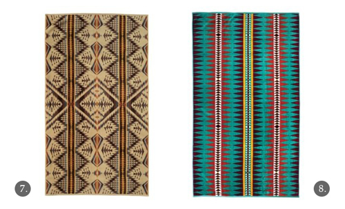 Navajo-Inspired Towels by Pendelton - Diamond Desert, Suwanee Stripe