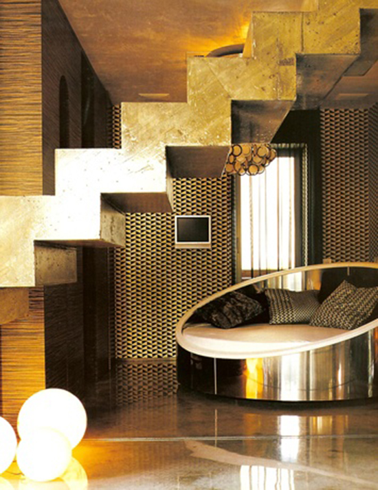 Gold modern interior design