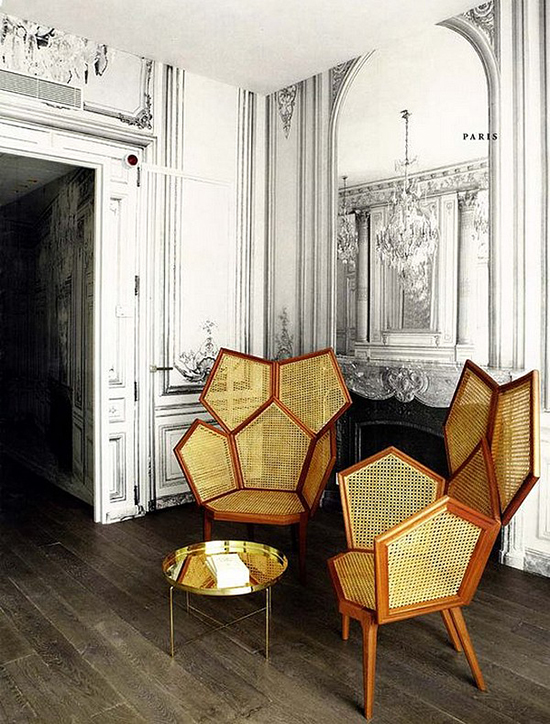 Fabulous Fauteuils at the Hotel La Maison designed by Martin Margiela.