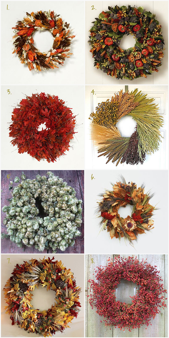 The Best Fall Wreaths to Buy for 2013