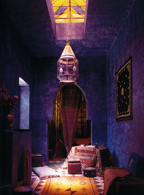 makin' it - this room, those spectacular violet purple walls!