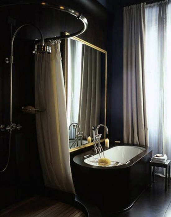 Black Bathroom Paint Color