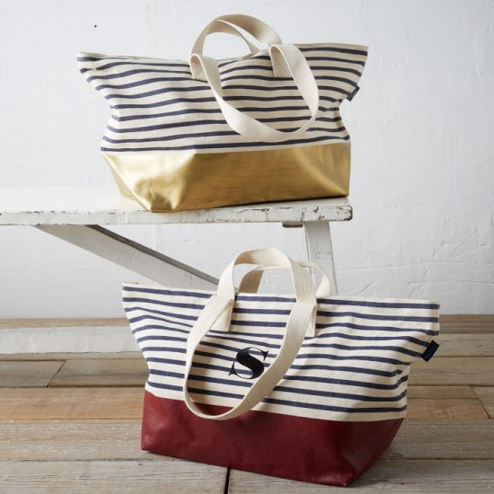 yes please - The Gold Dipped Striped Baggu Weekender Bag
