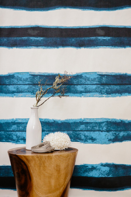 Shibori Wallpaper - Aleutian Stripe