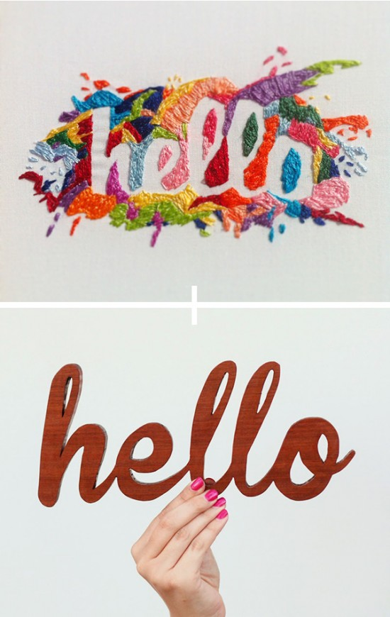 two projects making diy hello signs