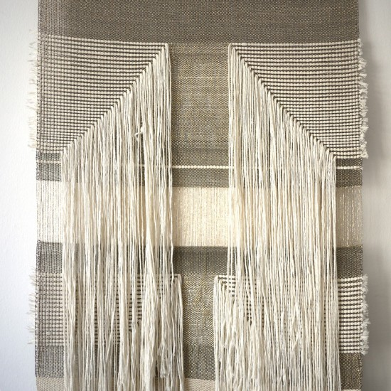 Native Line Wall Hangings in natural and gold