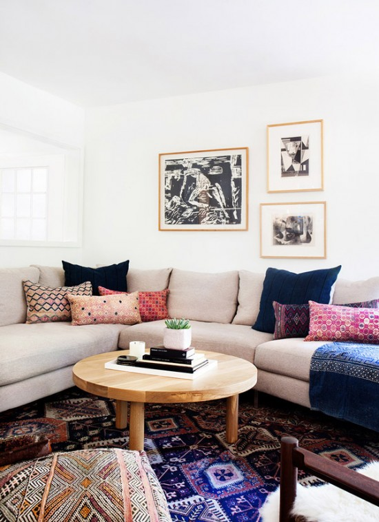 The Bohemian And Bright Living Room Of A California Home Designed By Amber  Interiors | FINDING