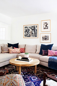 a bohemian and bright california home