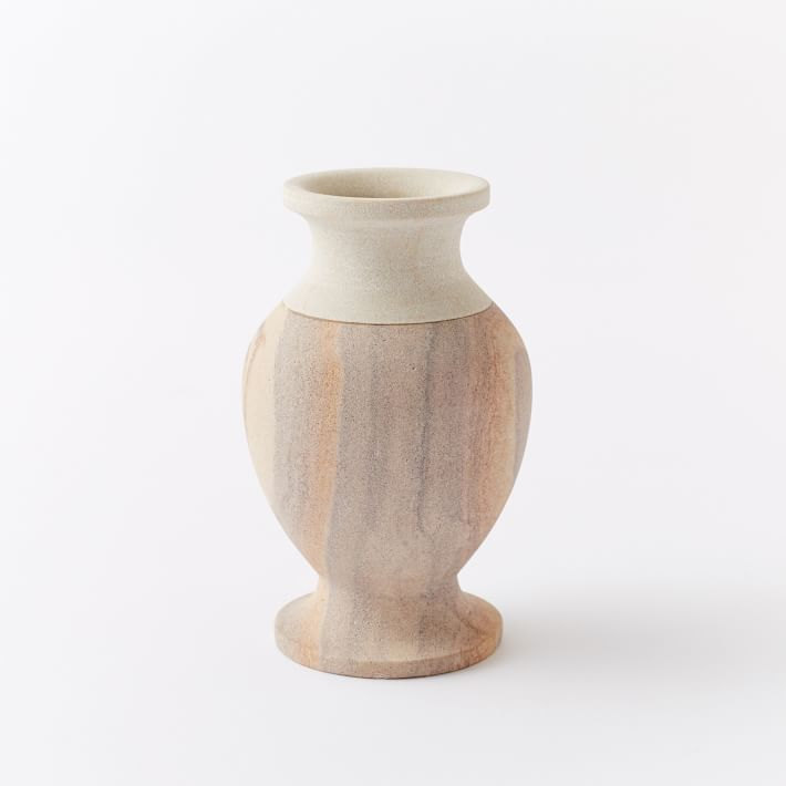 The Sandstone Bedside Vase by Amy Merrick for West Elm