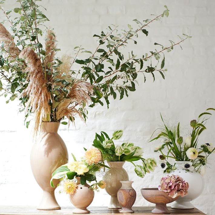 Beautiful sandstone vases from West Elm's collaboration with Amy Merrick
