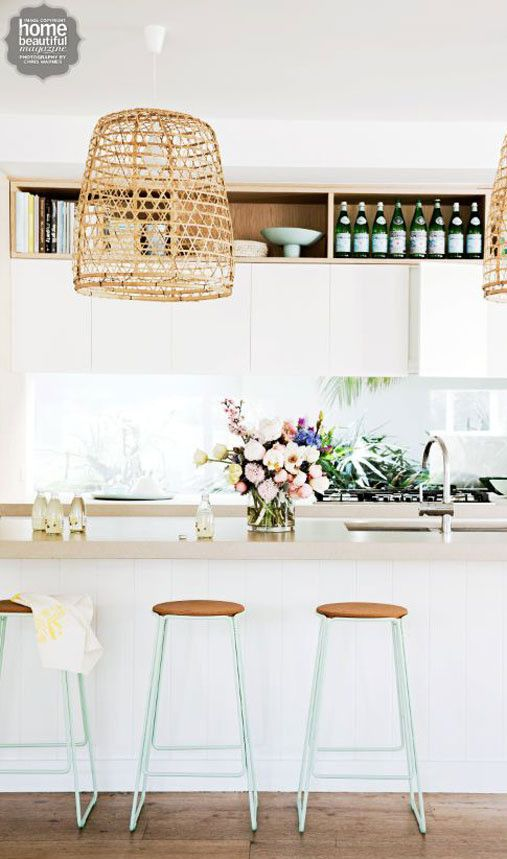inspired palettes - a pop of mint on the legs of stools