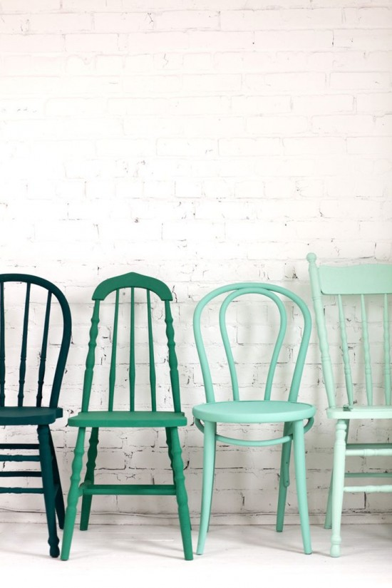 inspired palettes - mint colored chairs